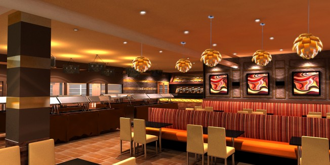 Category interior design projects a to z part 3 for Small indian restaurant interior design